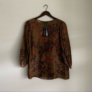 Lafayette 148 Ivy Printed Blouse Small NWT Small